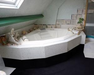 baignoire de la salle de bain