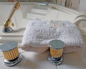 baignoire, linge de bain