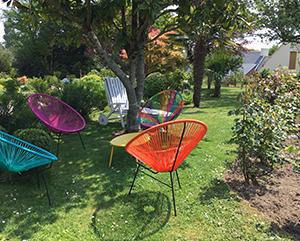 fauteuils du jardin
